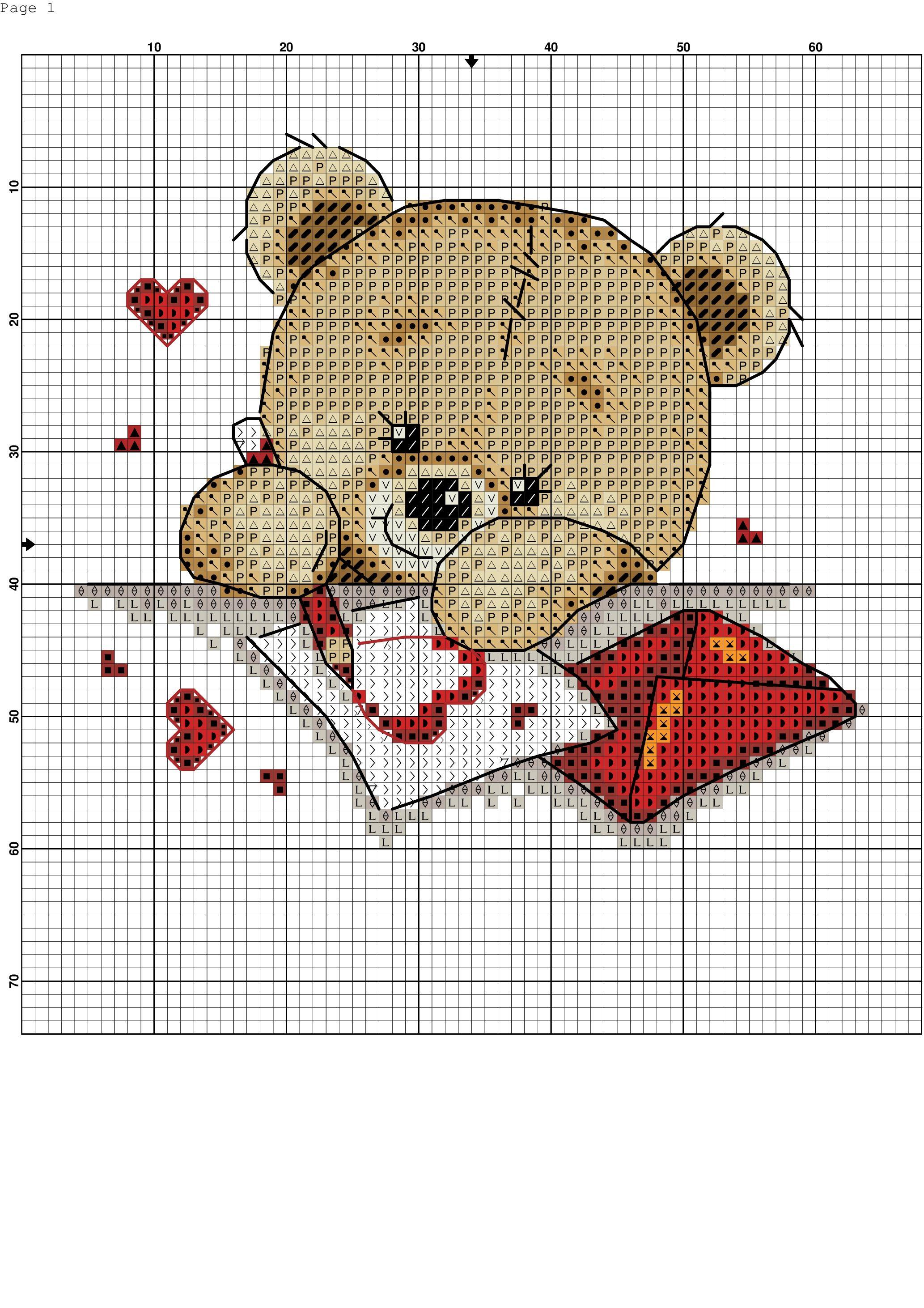 Un corazón para ti. Punto de cruz. | punto cruz | Pinterest ...