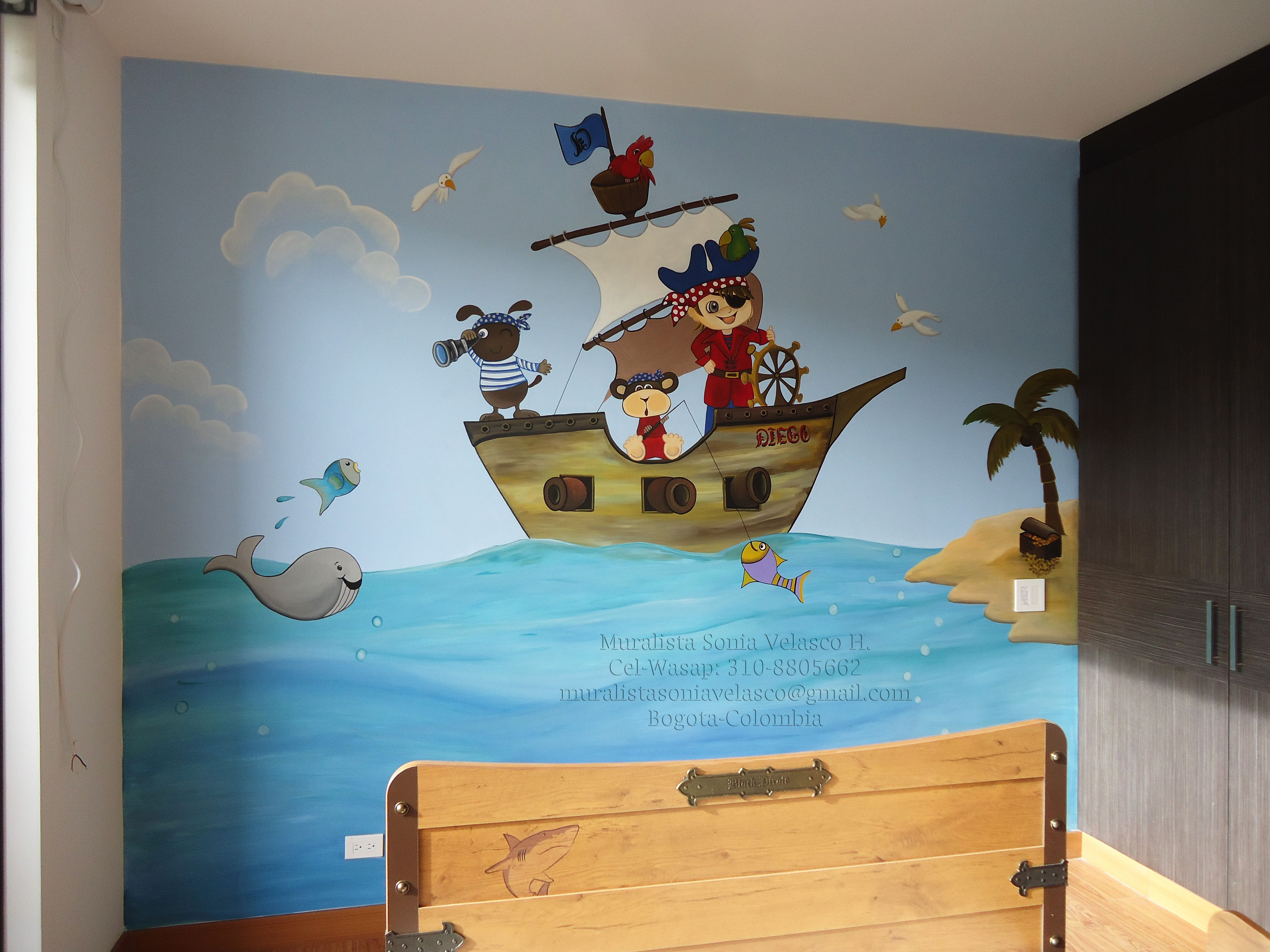 Muralista Sonia Velasco Cel Washapp 310 8805662 Correo  # Muebles Jennifer'S Bogota