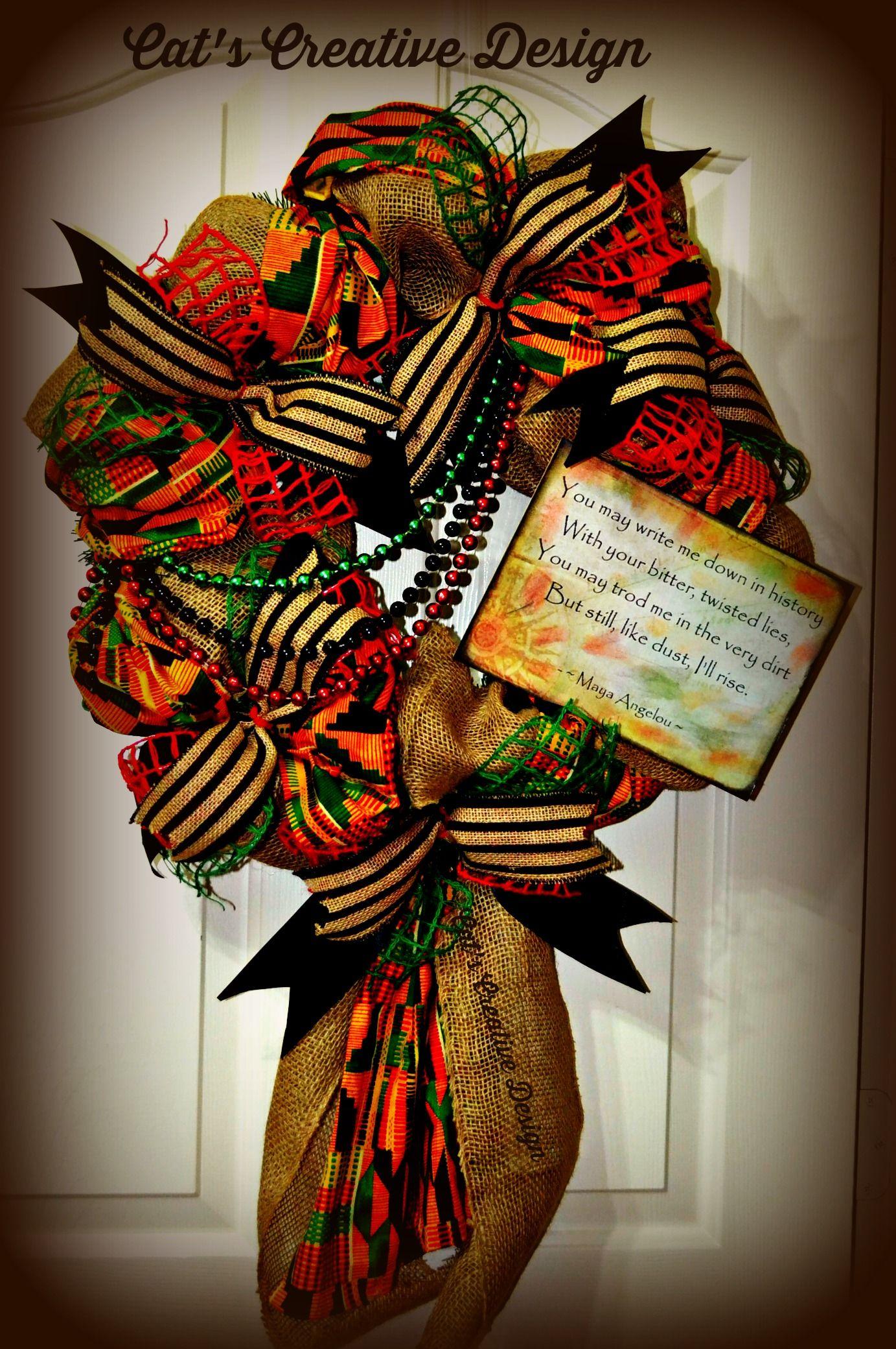 Juneteenth Wreath My Door Decor Amp More Happy Kwanzaa