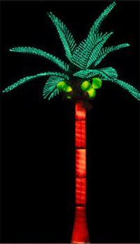 Lighted 9 8 Tiara Palm Tree With Coconuts Lighting Modes
