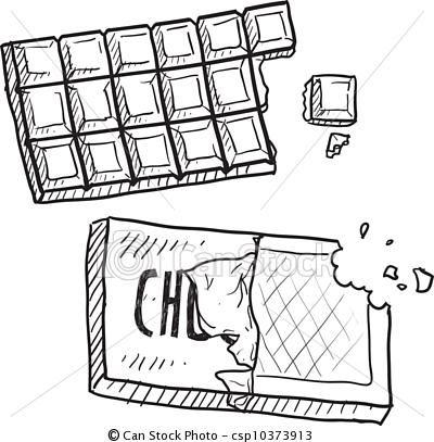 Vector - Chocolate bar sketch - stock illustration ... - Dessin Tablette De Chocolat