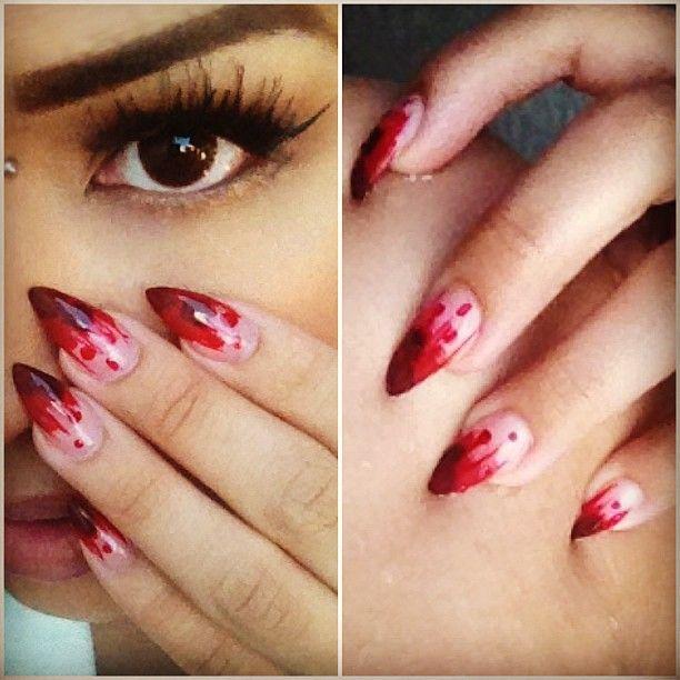 Blood blood everywhere Nail Art - Blood Blood Everywhere Nail Art Claws And Paws Pinterest Blood