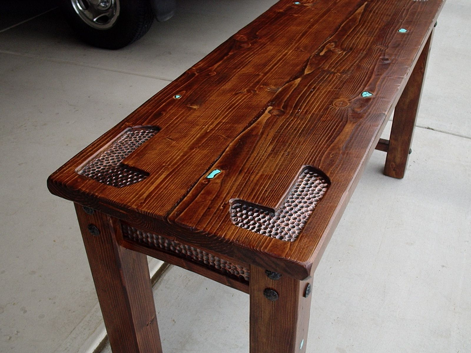 hammered copper inlay google search rustic coffee on stunning wooden metal coffee table id=61332