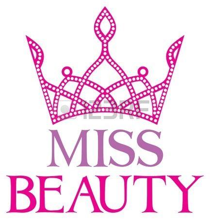 se orita belleza s mbolo de belleza Miss cartel con tiara de diamantes Foto de archivo