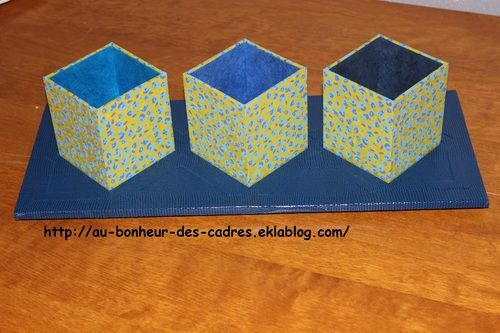 Cartonnage  mini porte plante à poser ou suspendre Cartonnage de