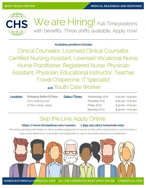 CHSi August Healthcare Job Fairs El Paso Texas.FullTime