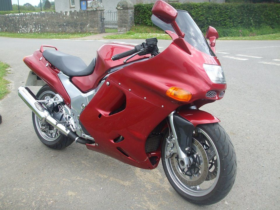 zzr1100 custom metallic paint and powder coated wheels and frame - Motorcycle Frame Paint