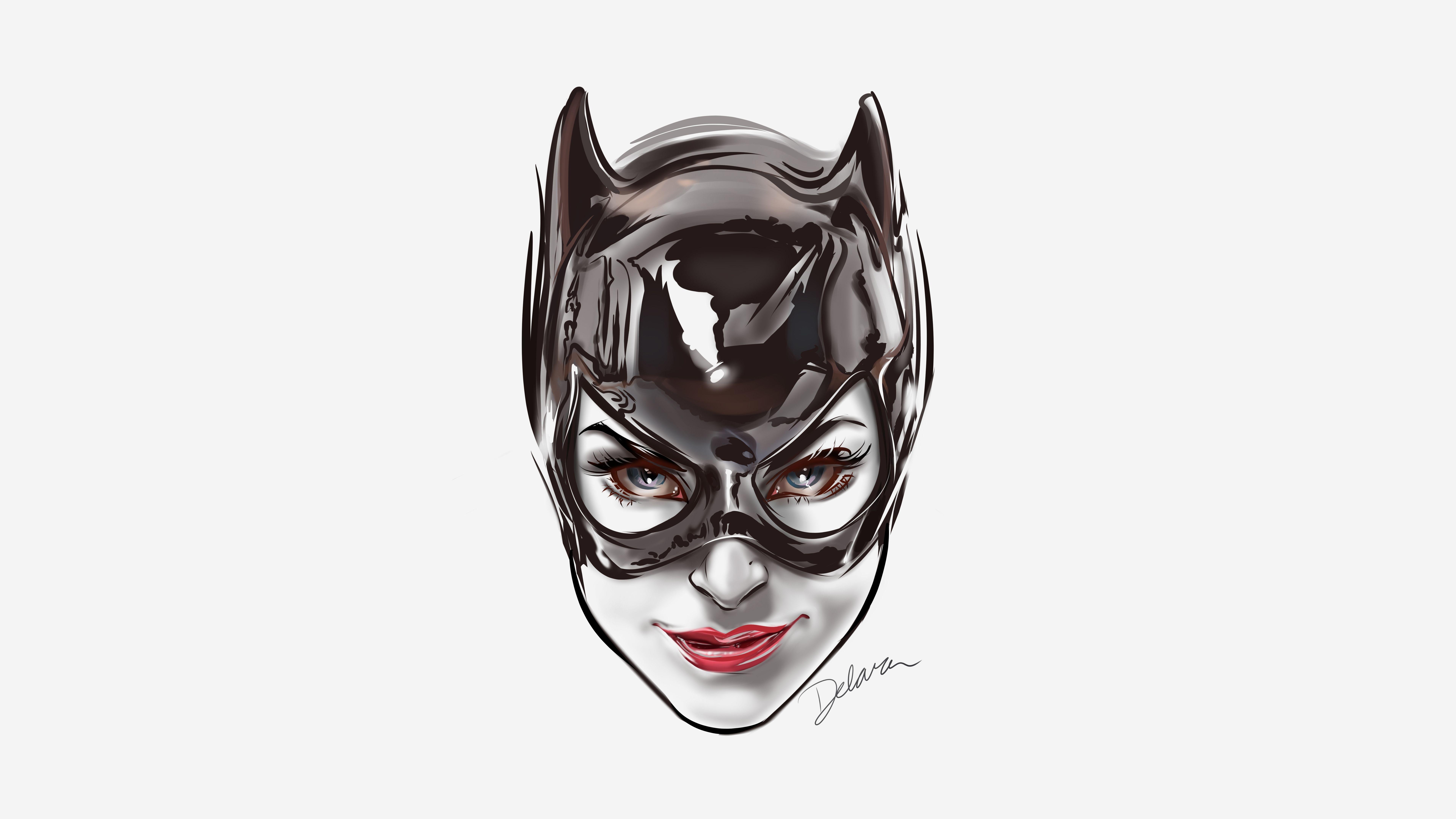 Catwoman Face Artwork 8k Iphone X Wallpaper Catwoman