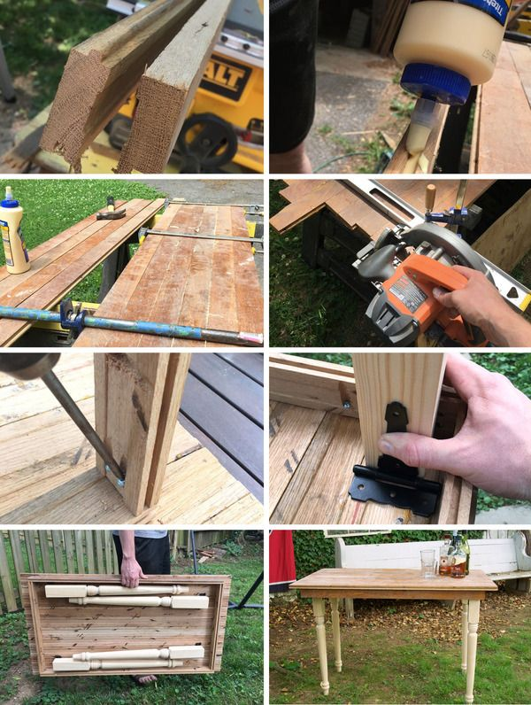 How To Make A Folding Farmhouse Table From Reclaimed Wood