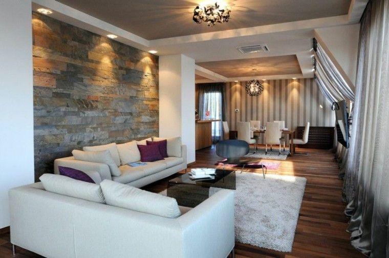 Revestimientos modernos para suelos y paredes for Paredes decoradas modernas