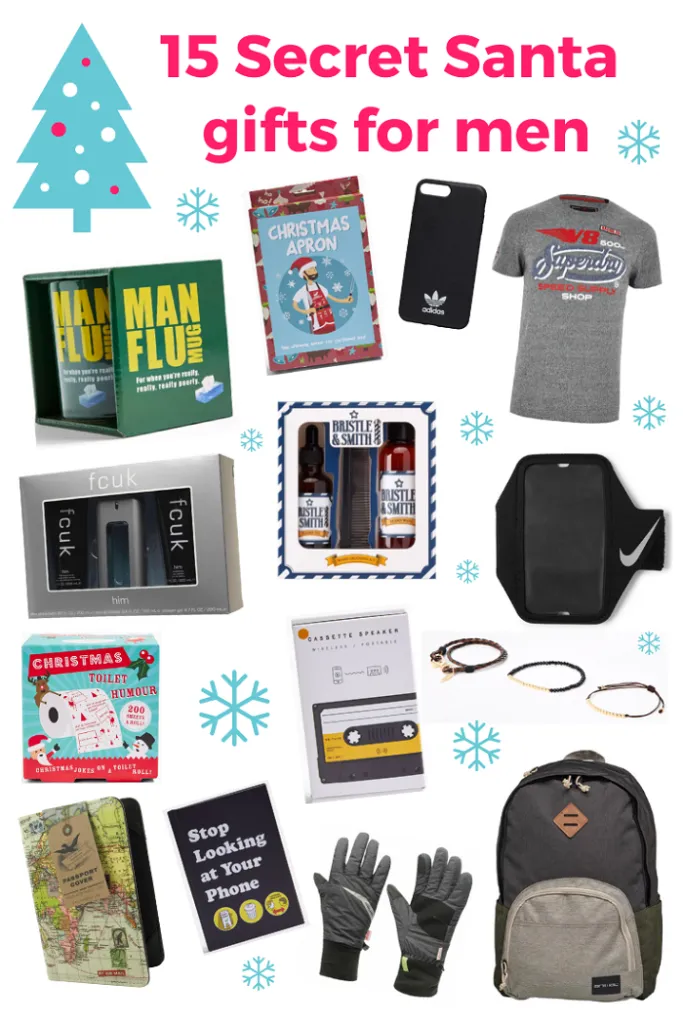 15 Secret Santa gift ideas for men | Digital Motherhood #secretsantaideasforwork