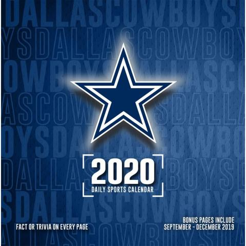 Dallas Cowboys 2020 Desk Calendar Calendar Dallas Cowboys Nfl Calendar