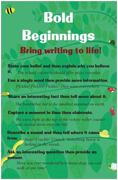 Great hooks for writing | Language Arts | Teaching writing, Teaching