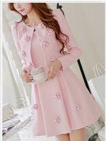 2016 outono inverno rosa unhas artesanais três dimensional grande flor macio mulheres barato tamanho extra D14CJK002