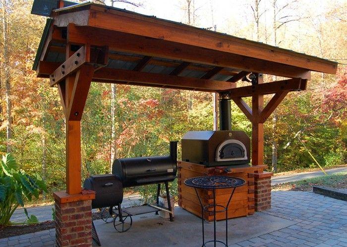 Outdoor Küche macht es möglich, köstliches Essen draußen zu genießen ...
