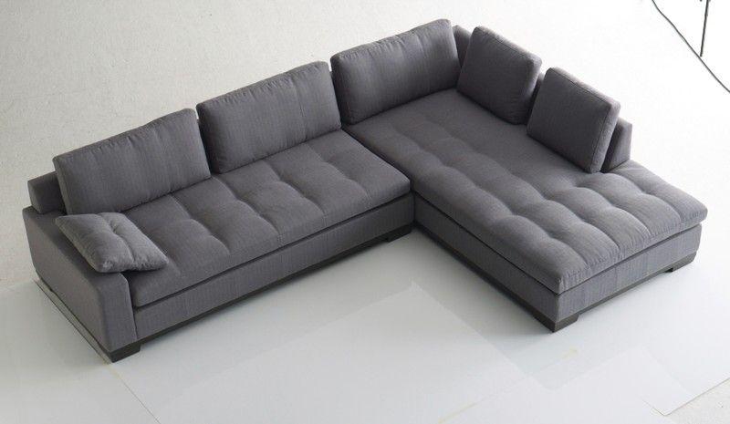 Canapé Angle Raspail Steiner Caen Design Contemporain Cuir Tissu - Canapé tissu contemporain