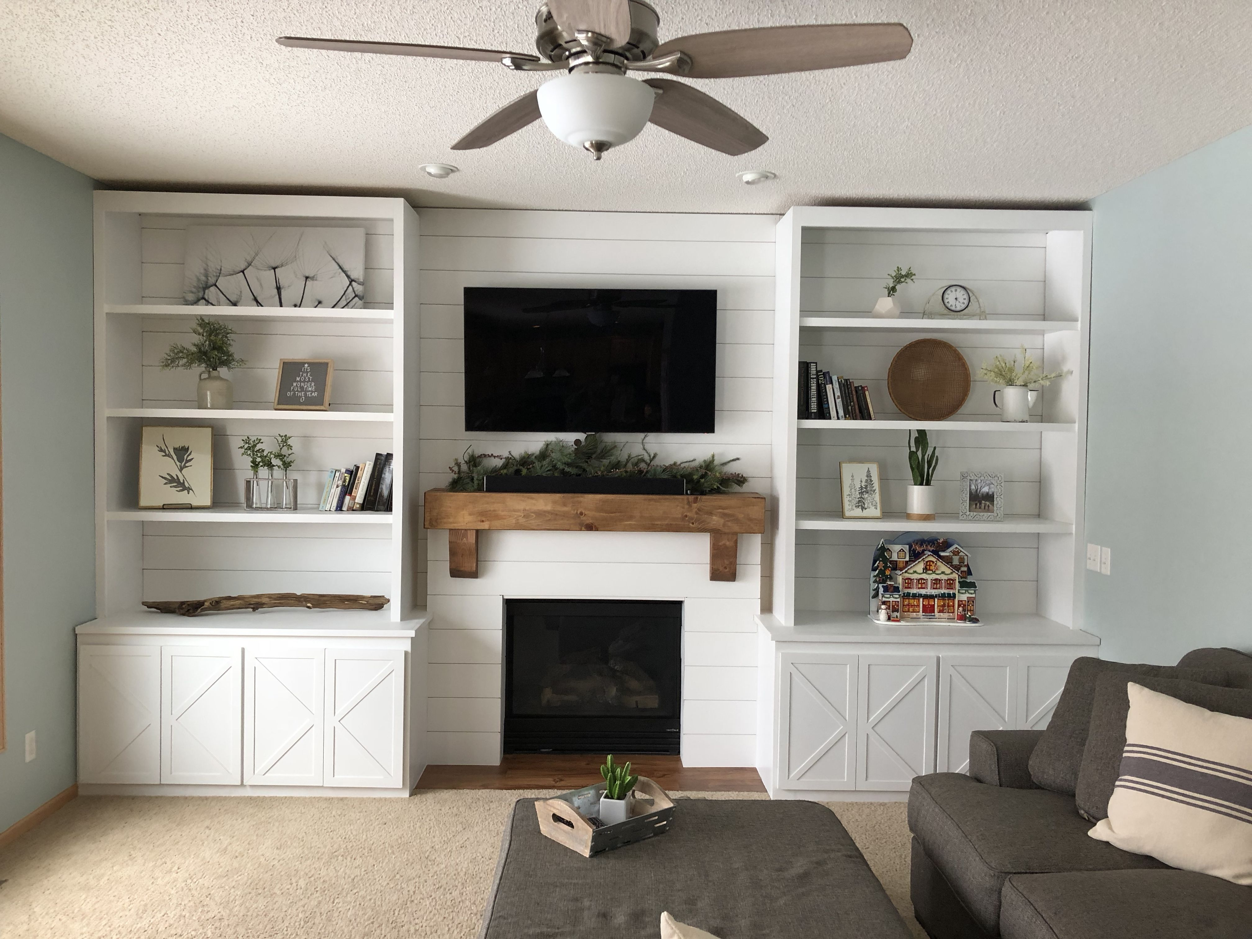 Pin By Allysia Keen Miller On New House Built In Around Fireplace Living Room Built Ins Fireplace Bookcase