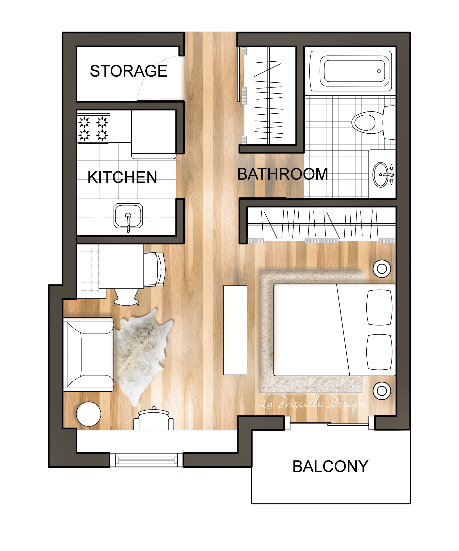 Downtown Studio Apartment Floor Plan Renderedfloorplan Smallapartmentplan Floorpl Studio Apartment Floor Plans Small Apartment Plans Apartment Floor Plans