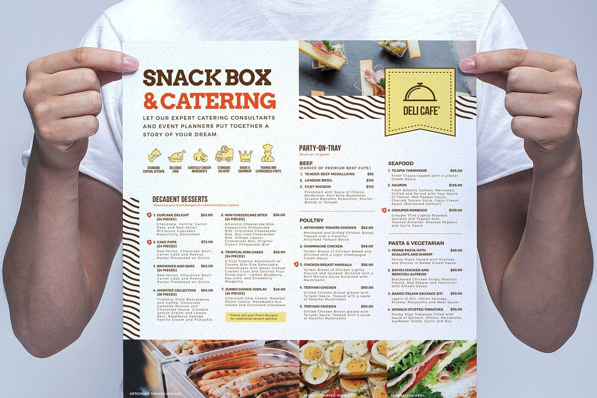 A4 Catering Service Poster Template #Sponsored , #sponsored, #Template#Photoshop#amp#Poster