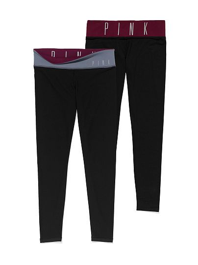 cee764a1d86d47 VS PINK Ultimate Reversible Yoga Legging-maroon/grey   When I Think ...