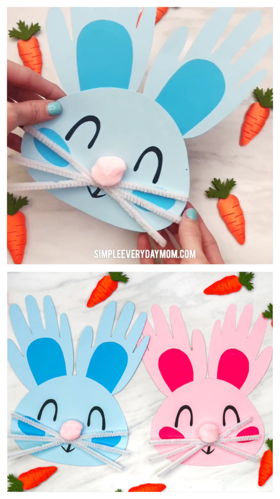Handprint Bunny Craft For Kids Easter Pinterest Manualidades