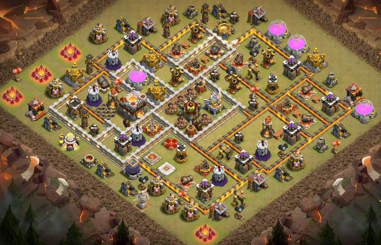 Base Coc Th 11 Terkuat War 3