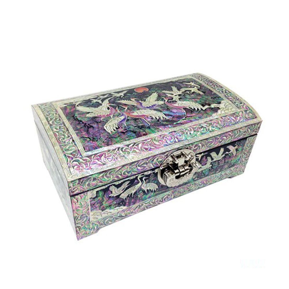 Beautiful Antique Korean motherofpearl jewelry boxes armoire