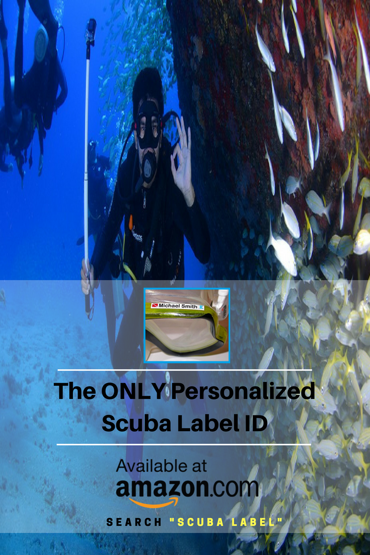 The ONLY Personalized Scuba Diving Stickers on Amazon