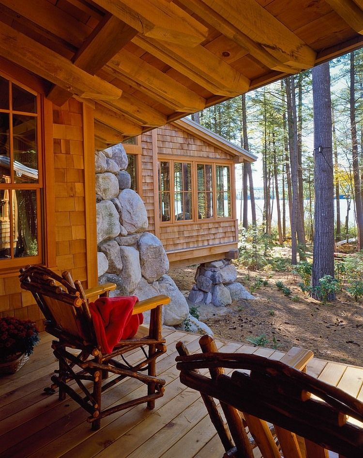 Maine Camp By Whitten Architects Cabin Porches Home