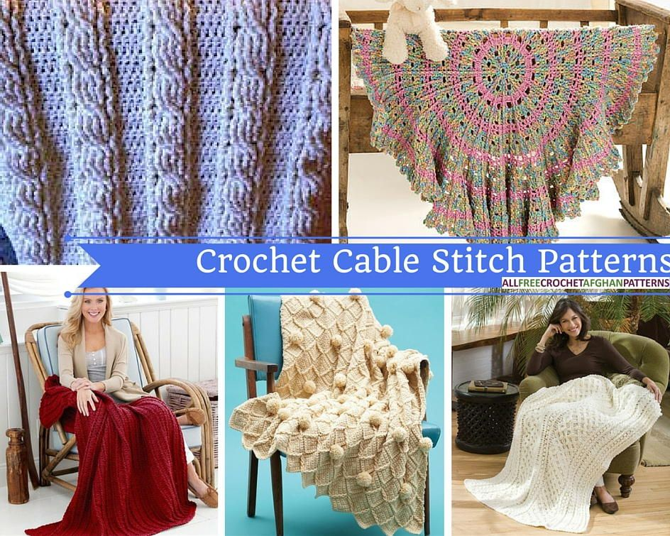 23 Crochet Cable Stitch Patterns | Crochet cable stitch, Cable and ...
