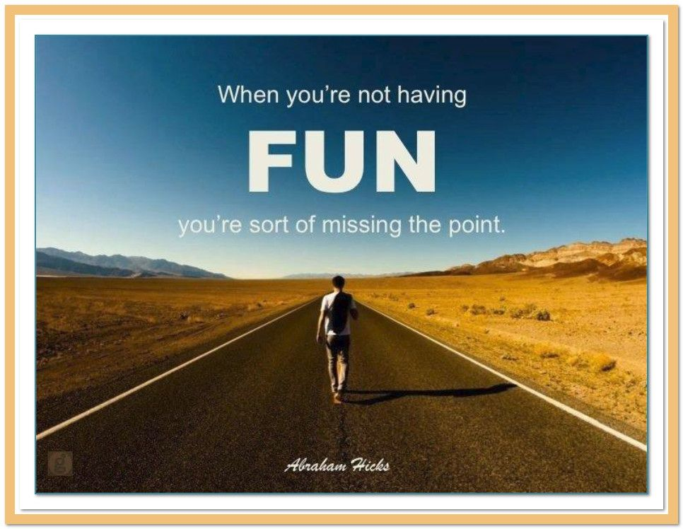 When Youre Not Having Fun Youre Missing The Point Abrahamhicks