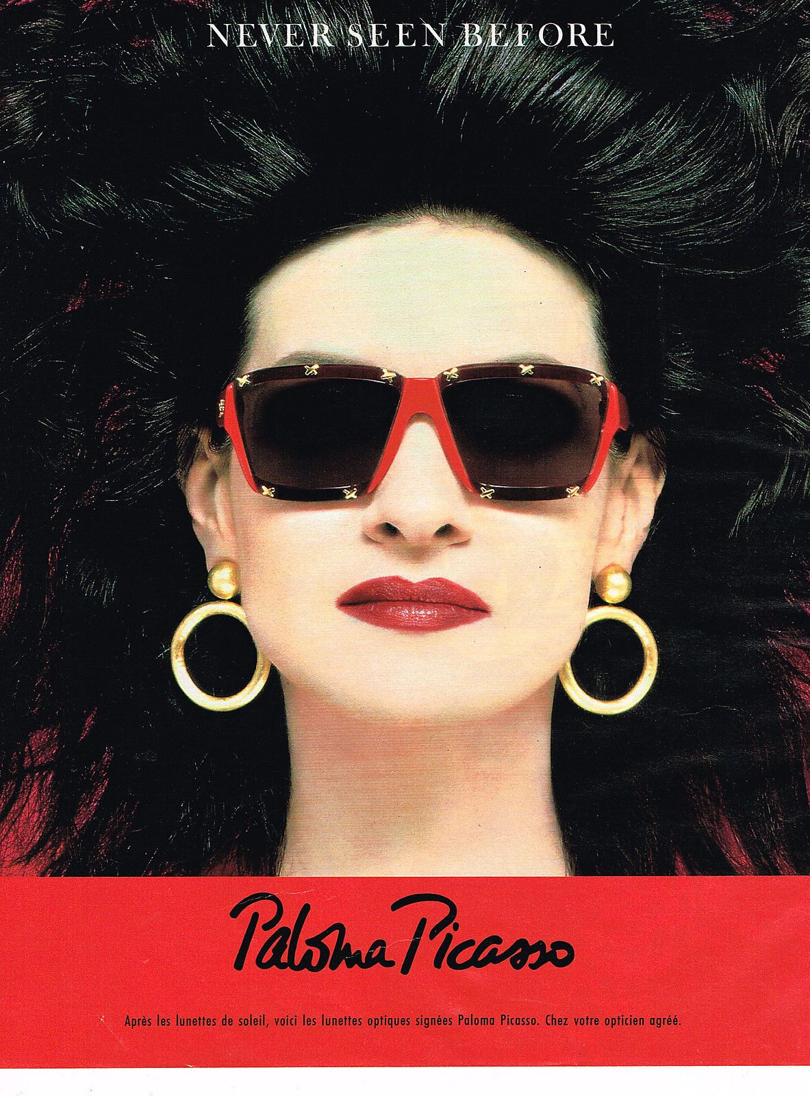 Paloma Picasso 1989 Paloma Picasso Ad Glasses Picasso 80s Fashion Vintage