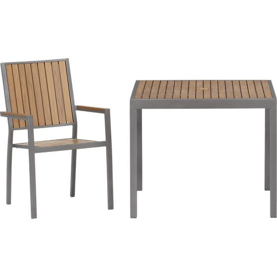 Alfresco Natural Cafe Table In Alfresco Natural Crate And Barrel Outdoor Furniture Sale Outdoor Dining Table Furniture