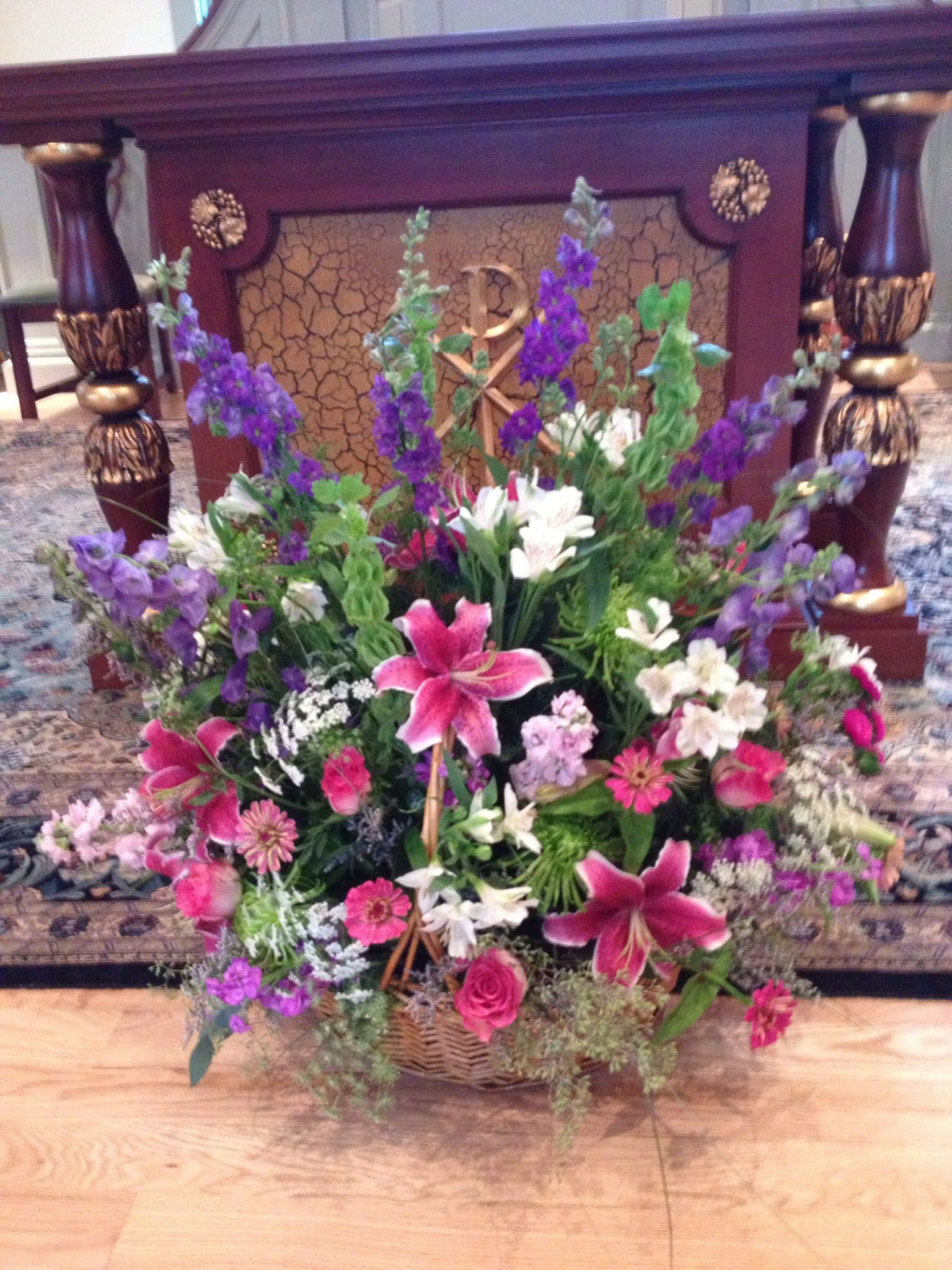 Altar Flowers For A Funeral Funerals Sympathy Pinterest