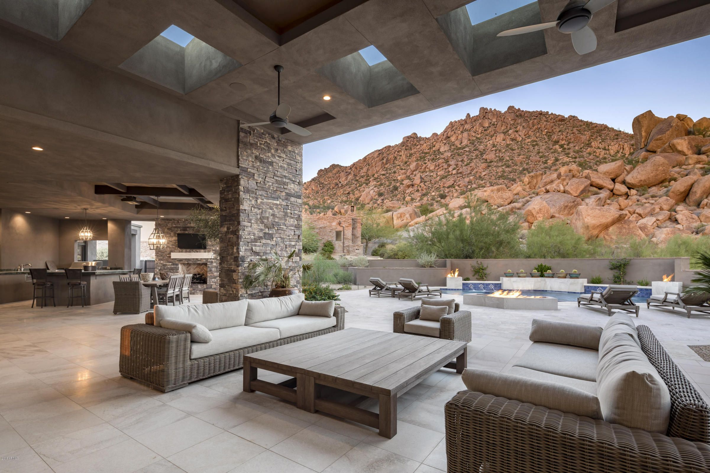 Southwest architecture Covered patio, Indoor outdoor ... on Outdoor Living Sale id=38329