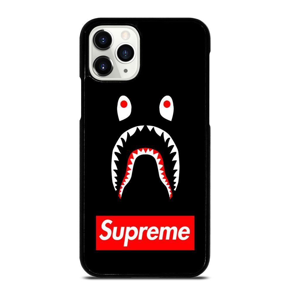 Bape shark black supreme iphone 11 pro case di 2020
