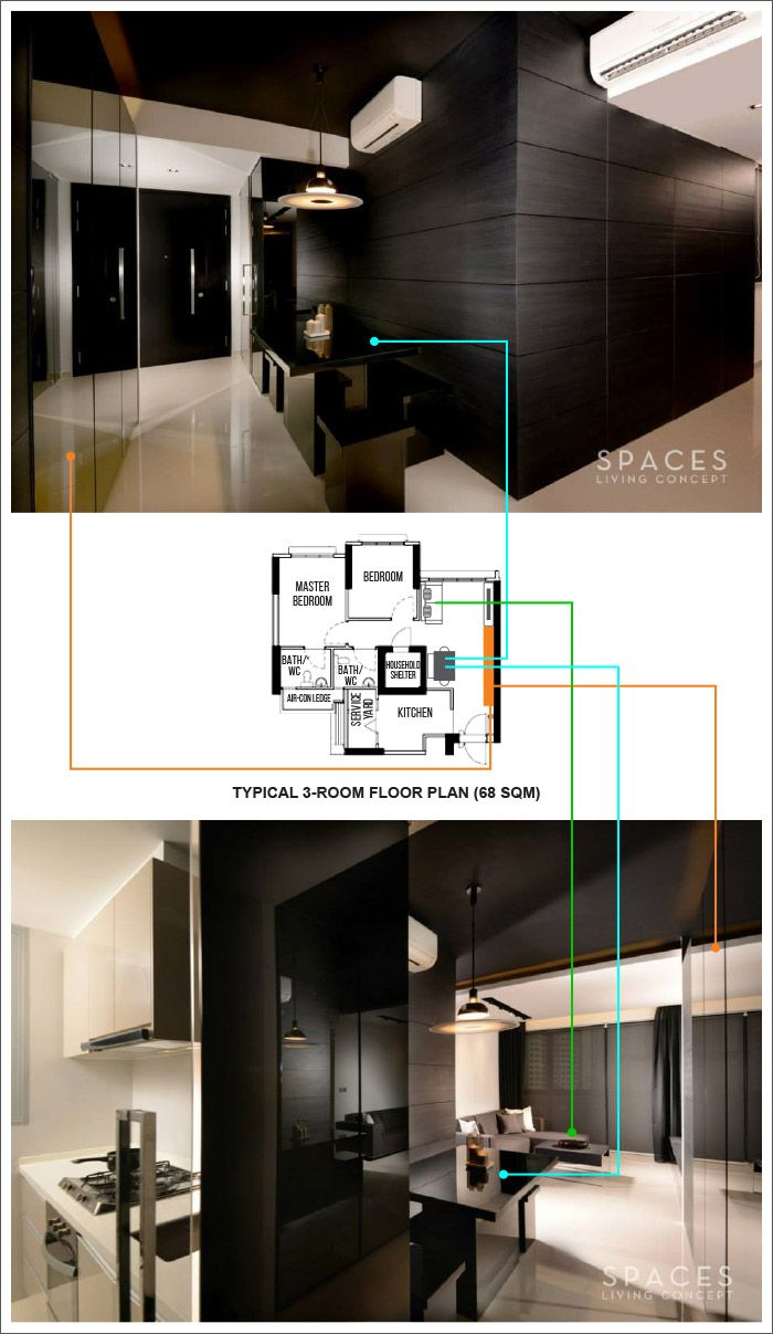 An Idea Of How The Entrance To Living Room And Kitchen Is Like Parcview Design