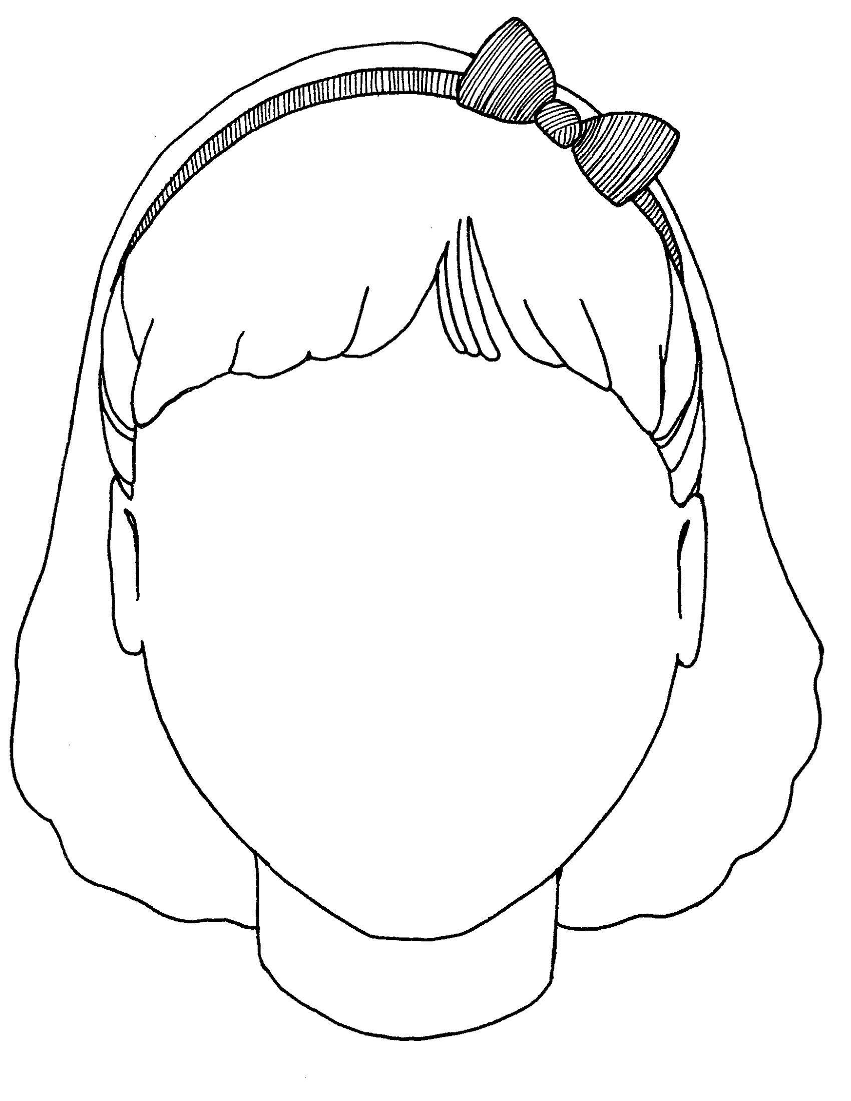 Blank Coloring Pages For Girls