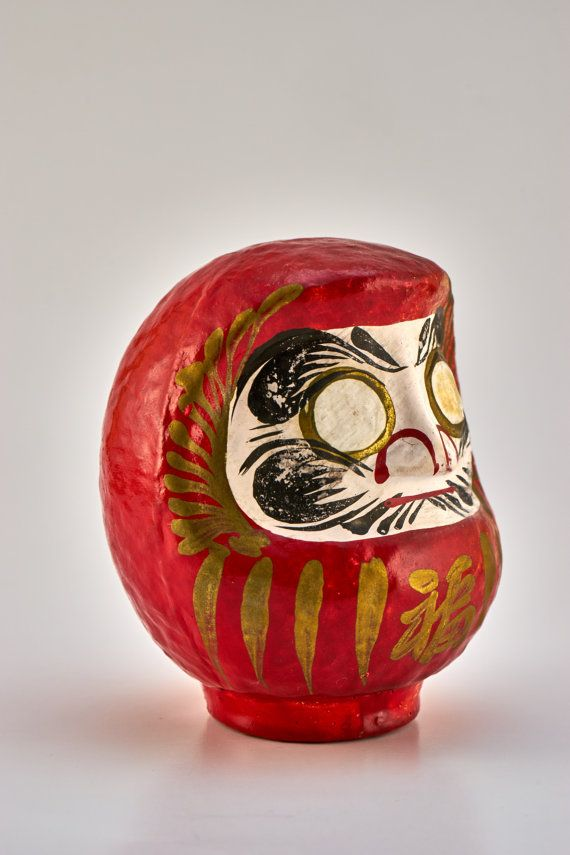 Lucky Daruma by LuckyDarumaVintage on Etsy