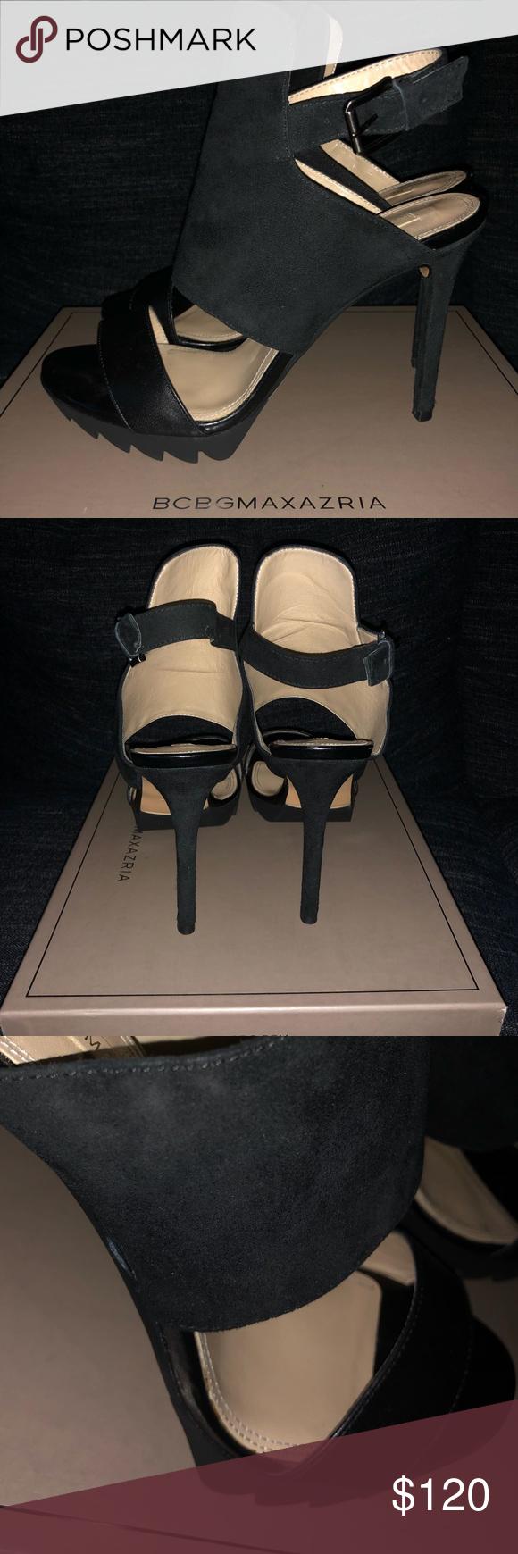 Bcbg High Heel Leather Sandal Heels Leather Sandals Leather Heels