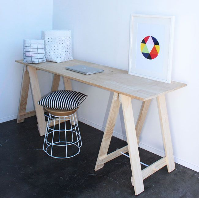 Simple Trestle Desks By Companyfrom Fancy Nz Design Blog
