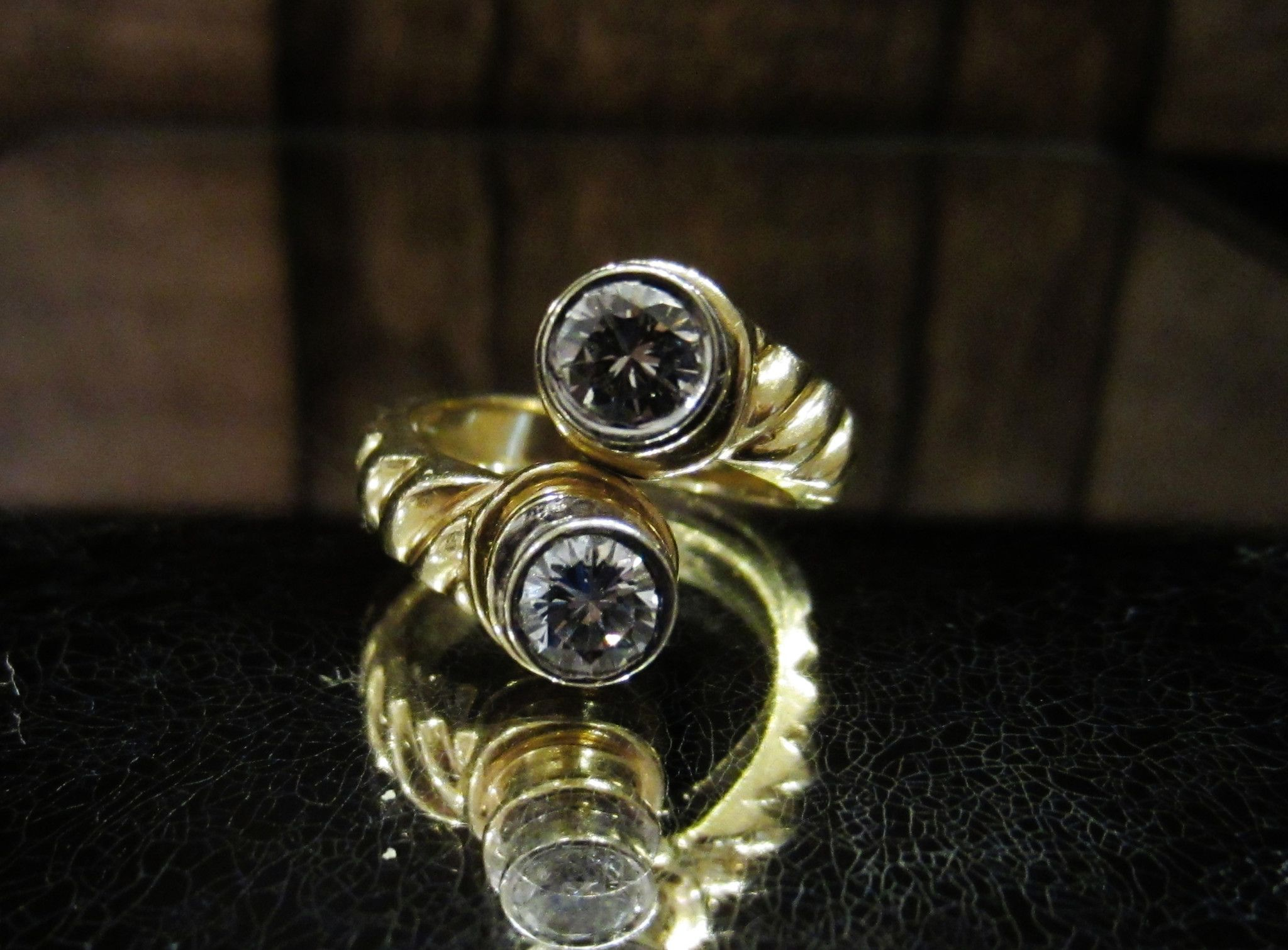 ring modernist pin goldmakers diamond jewelry fine engagement wedding by black rings