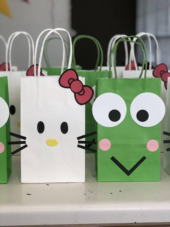 O Kitty Birthday Party Set Of 10 Favors Bags Goo