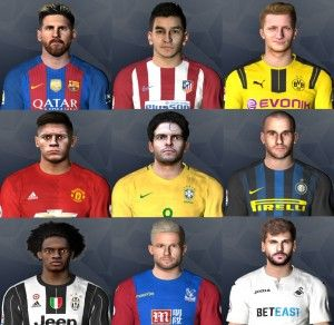 PES 2017 International Face Pack by Jonathan Facemaker | PES All Update
