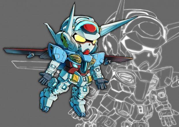 插畫家銀杏反応q版機械人作品分享 Chibi Gundam Character