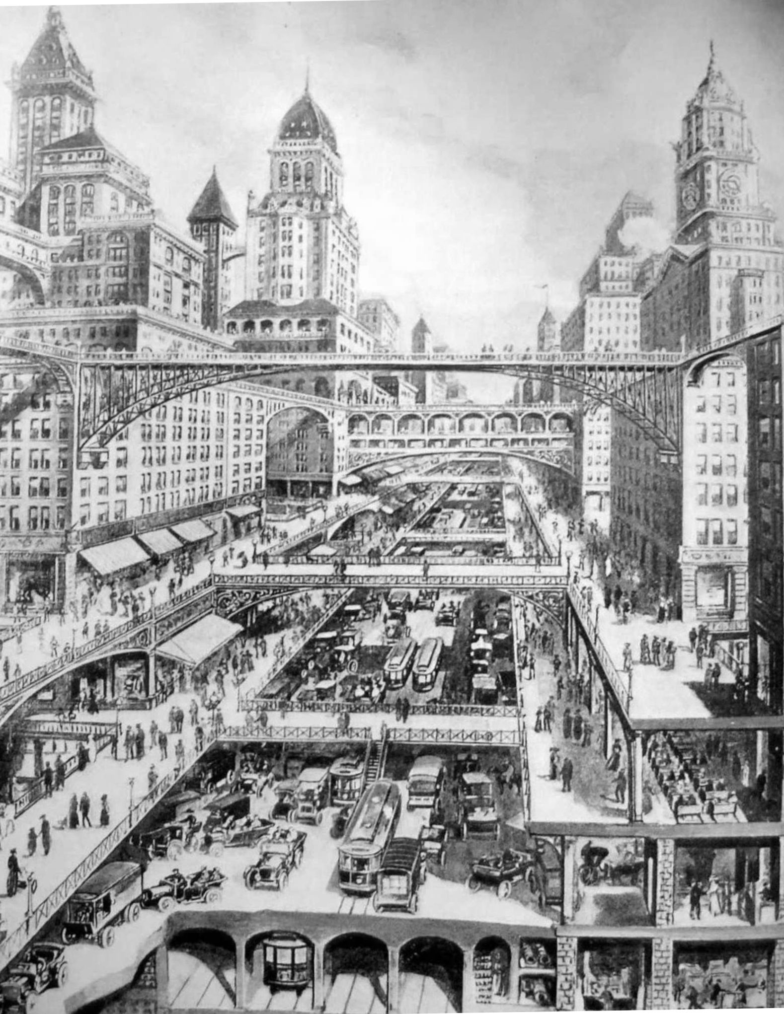 Harvey Wiley Corbett's 'City of the Future' in 1913