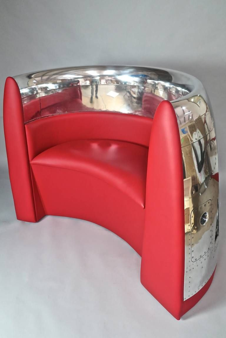 Red Chair, Aviation cowling Furniture..