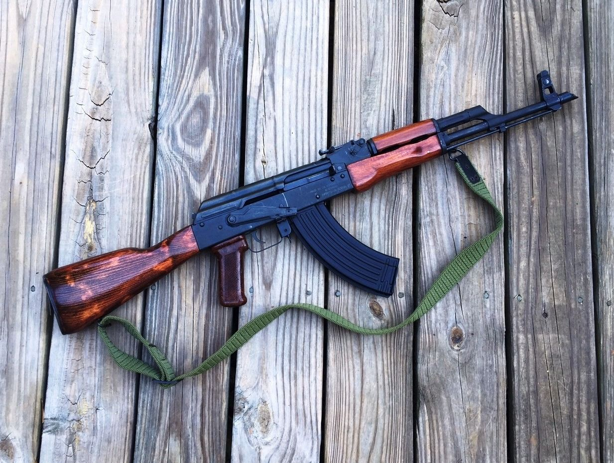 My 2003 Romanian WASR-10  I threaded the barrel and