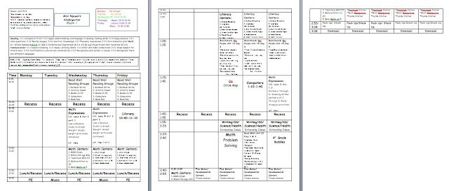 Lesson Plan Template Has Spot To Put Common Core Standards