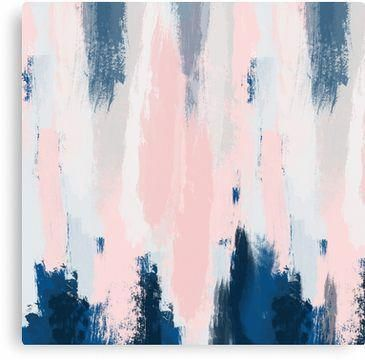 Abstract blush and blue | Canvas Print images